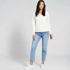 V Neck Cosy Sweater  FRENCH VANILLA  hi-res