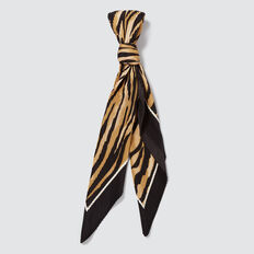 Pleated Square Neck Scarf  TIGER  hi-res
