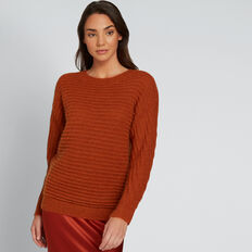 Luxe Mohair Blend Knit  BURNT TERRACOTTA  hi-res