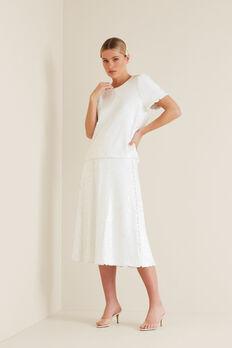 Sequin Skirt  WHISPER WHITE  hi-res