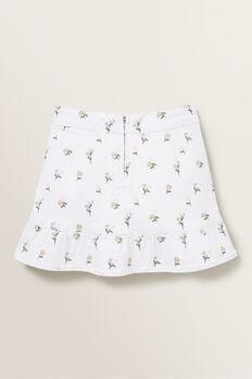 Denim Asymmetric Skirt  MULTI  hi-res