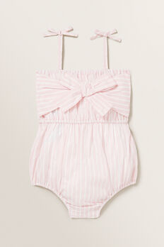 Metallic Stripe Romper  ICE PINK  hi-res