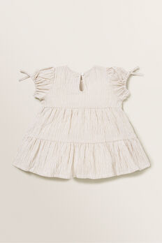 Stripe Dress  SAND  hi-res