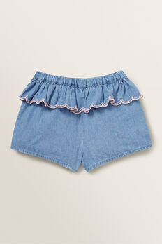 Chambray Short  ICE BLUE WASH  hi-res