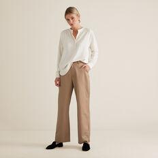 V Neck Textured Shirt  FRENCH VANILLA  hi-res