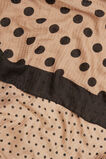 Mixed Spot Print Scarf  WALNUT BLACK  hi-res