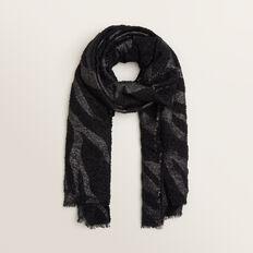 Boucle Zebra Scarf  BLACK MULTI  hi-res