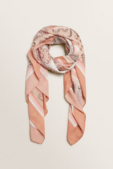 Paisley Square Scarf  ROSE BLUSH  hi-res