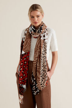 Spliced Animal Scarf  MULTI  hi-res
