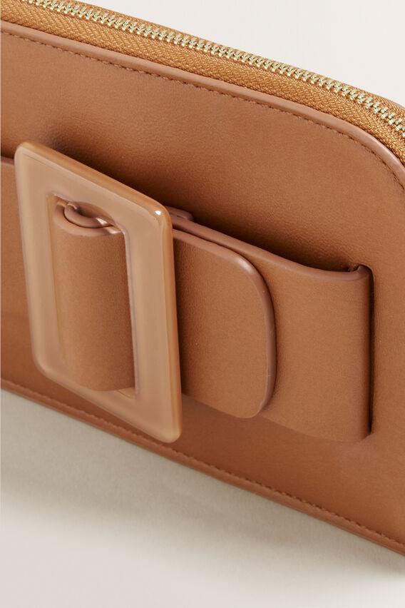 Buckle Detail Pouch  TAN  hi-res