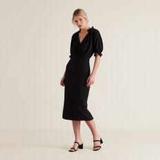 Jacquard Dress  BLACK  hi-res