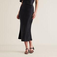 Midi Skirt  BLACK  hi-res