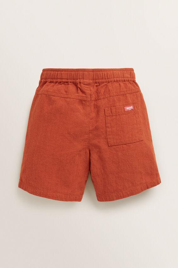 Linen Short  RUST  hi-res