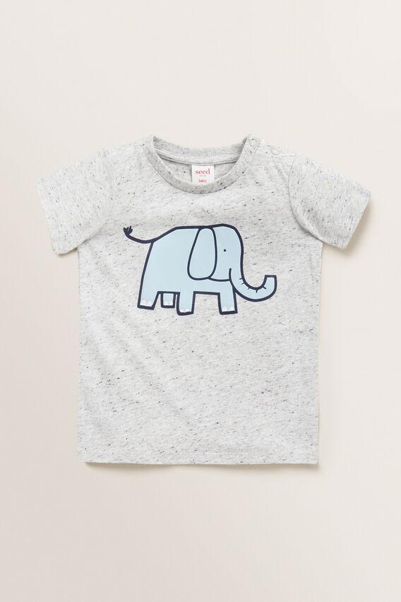 Elephant Tee  CLOUDY MARLE  hi-res