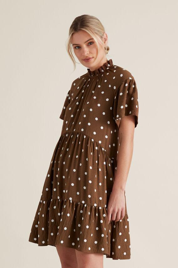 High Neck Spotty Dress  SPOT  hi-res