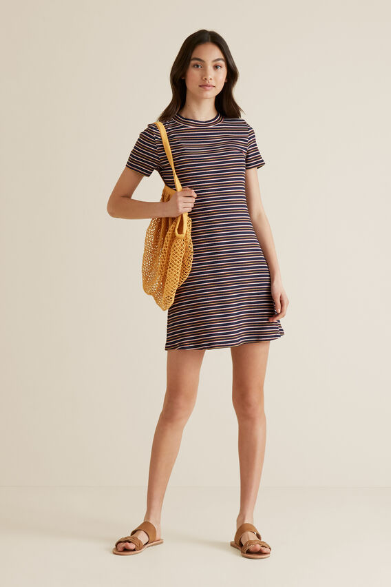 Rib Stripe Dress  MULTI  hi-res