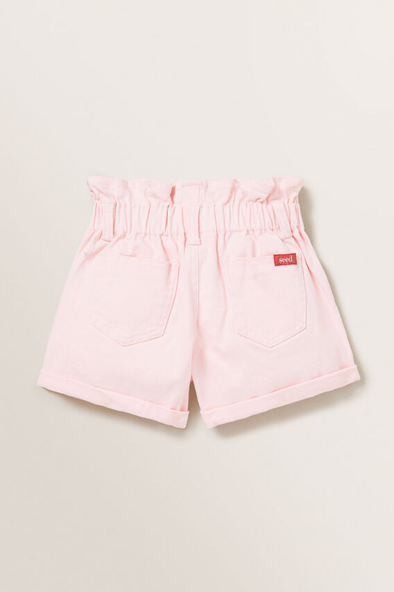 Paperbag Denim Shorts  ICE PINK  hi-res