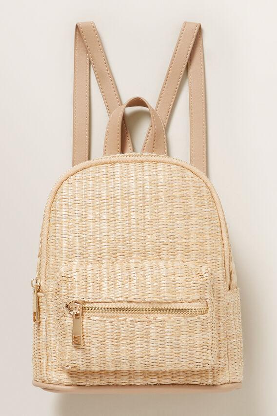 Straw Mini Backpack  NATURAL  hi-res
