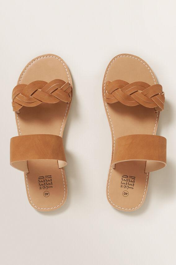 Tan Plait Sandal  TAN  hi-res