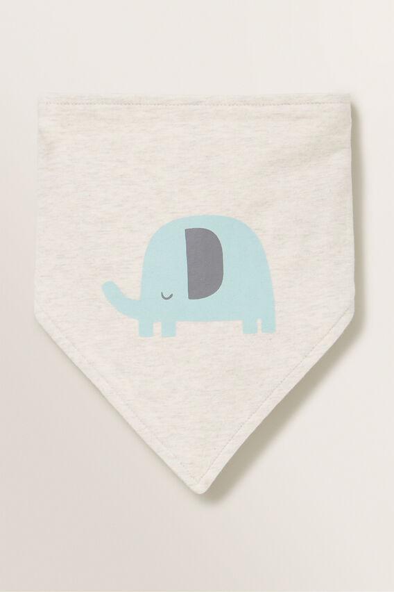 Elephant Bandana Bib  OAT MARLE  hi-res