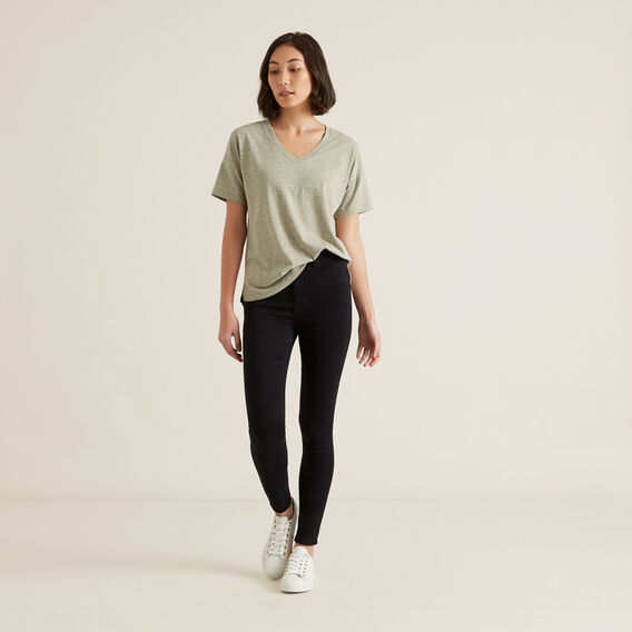 Easy Slub Tee  WASHED OLIVE MARLE  hi-res
