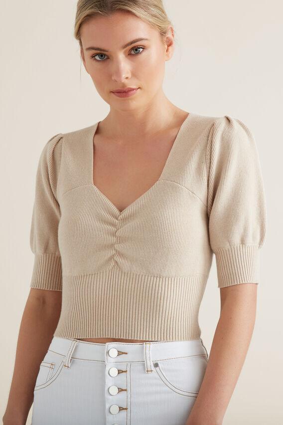 Sweetheart Knit Top  DESERT MARLE  hi-res