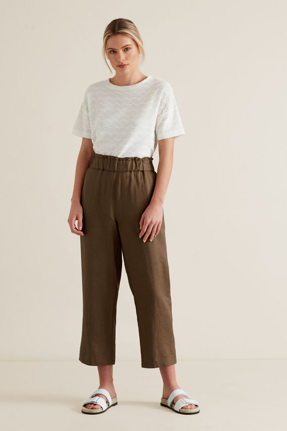 Linen Relaxed Pant  LIGHT CHOCOLATE  hi-res