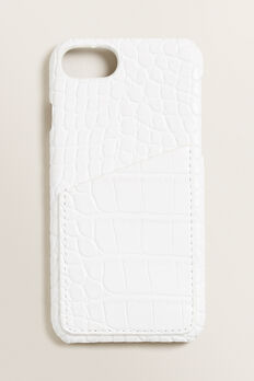iPhone Case 6/7/8 +  WHITE CROC  hi-res