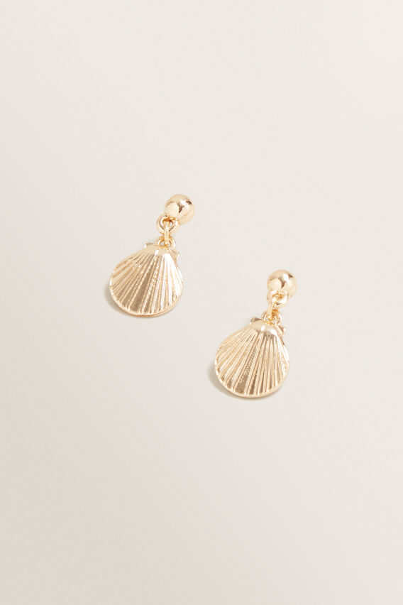 Mini Shell Drop Earrings  GOLD  hi-res
