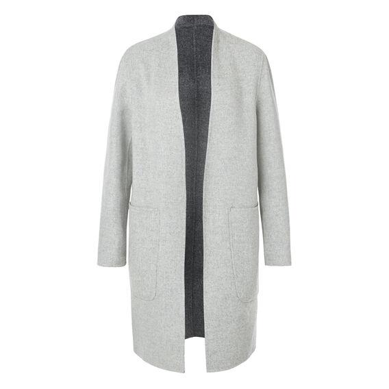 Reversible Cocoon Coat  MID GREY MARLE  hi-res