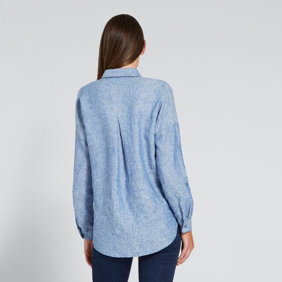 Cross-Dye Linen Comfy Shirt  BLUE CROSS-DYE  hi-res