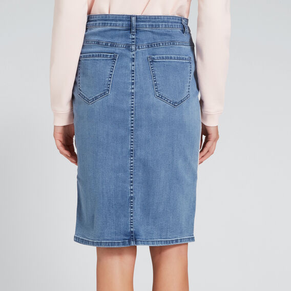 Side Stripe Skirt  TRUE DENIM WASH  hi-res