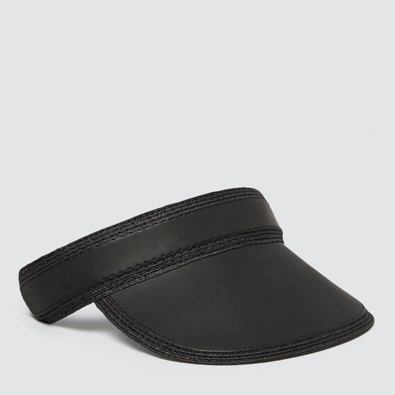 Leather Look Visor  BLACK  hi-res