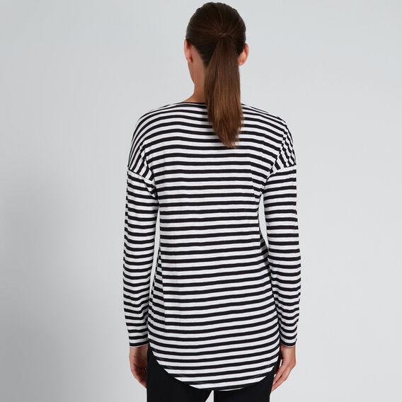 Stripe Tee  BLACK STRIPE  hi-res