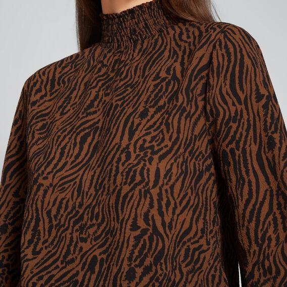Textured Zebra Blouse  ZEBRA PRINT  hi-res