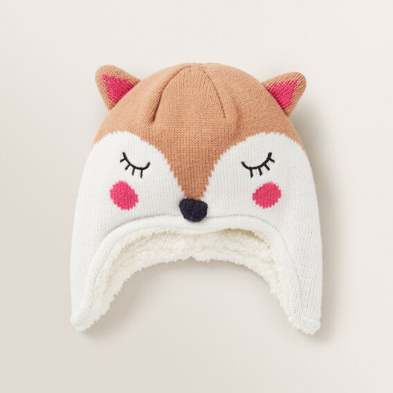 Fox Ear Beanie  MACAROON  hi-res