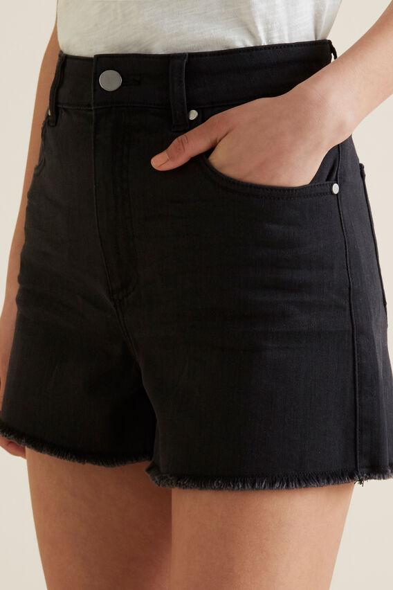 Denim Short  BLACK WASH  hi-res