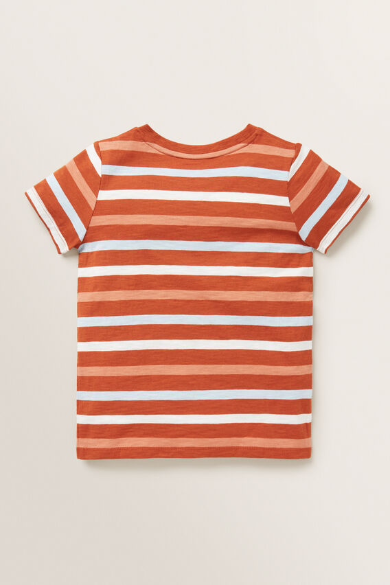 Multi Stripe Tee  RUST  hi-res