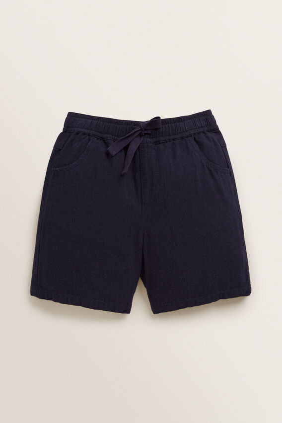 Linen Short  MIDNIGHT BLUE  hi-res