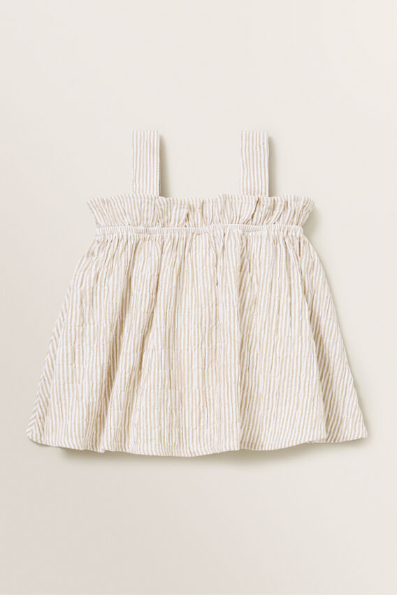 Cheesecloth Top  SAND  hi-res