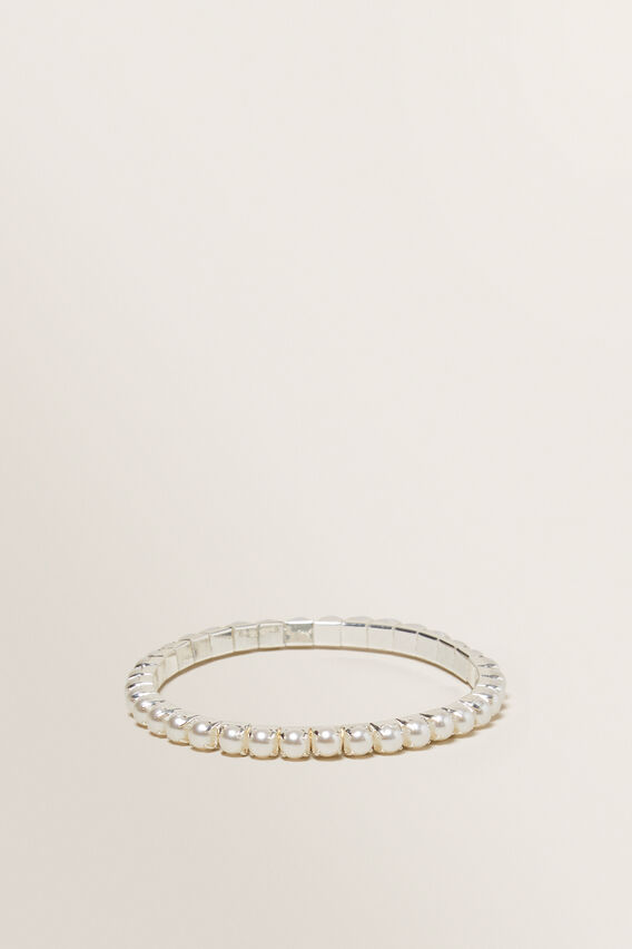 Pearl Stretch Bracelet  CREAM  hi-res