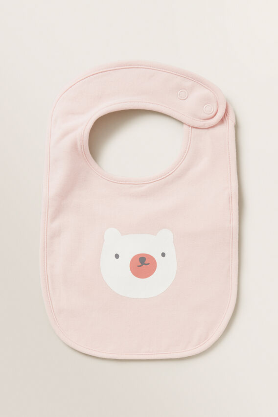 Little Bear Bib  APRICOT  hi-res