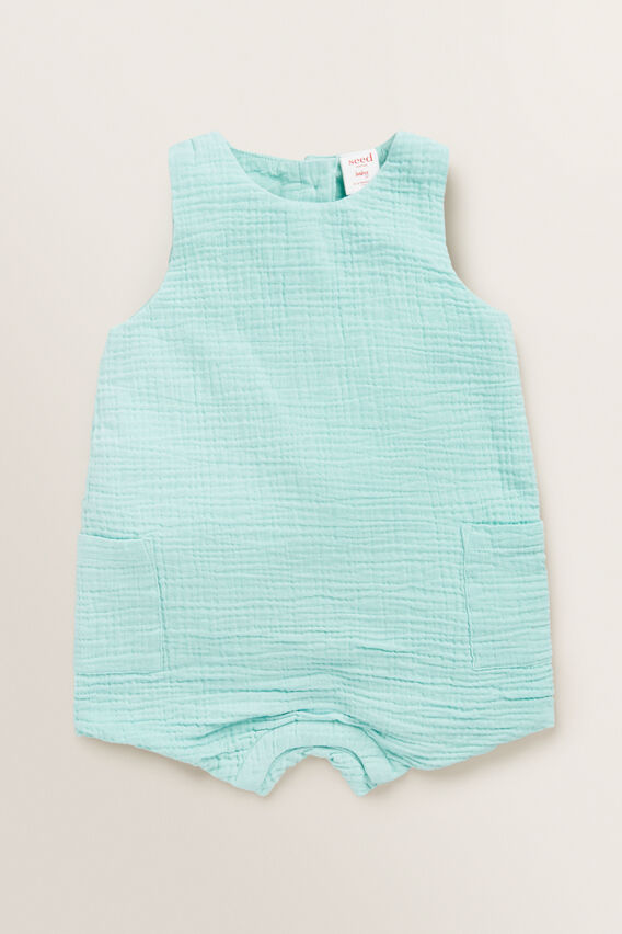 Pocket Romper  SEAFOAM  hi-res