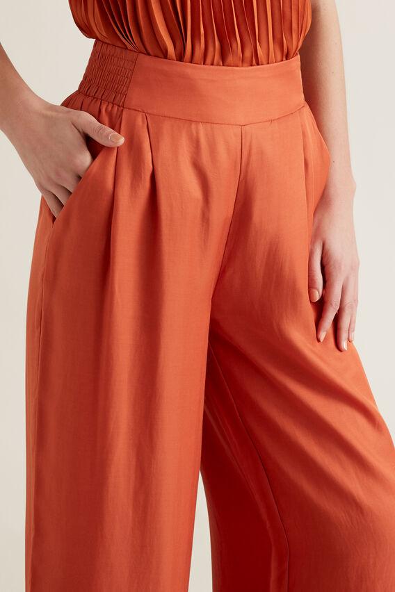 Soft Wide Leg Pant  SUNBURNT ORANGE  hi-res