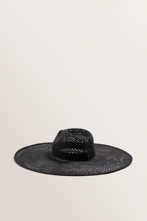 Open Weave Panama  BLACK  hi-res