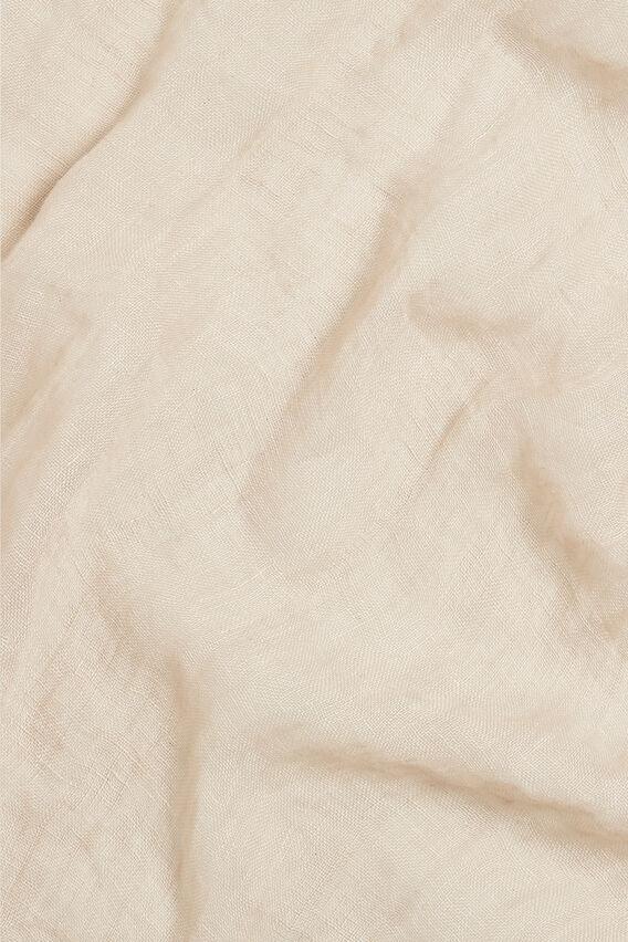 Linen Scarf  NATURAL  hi-res