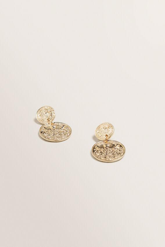 Coin Drop Earring  GOLD  hi-res