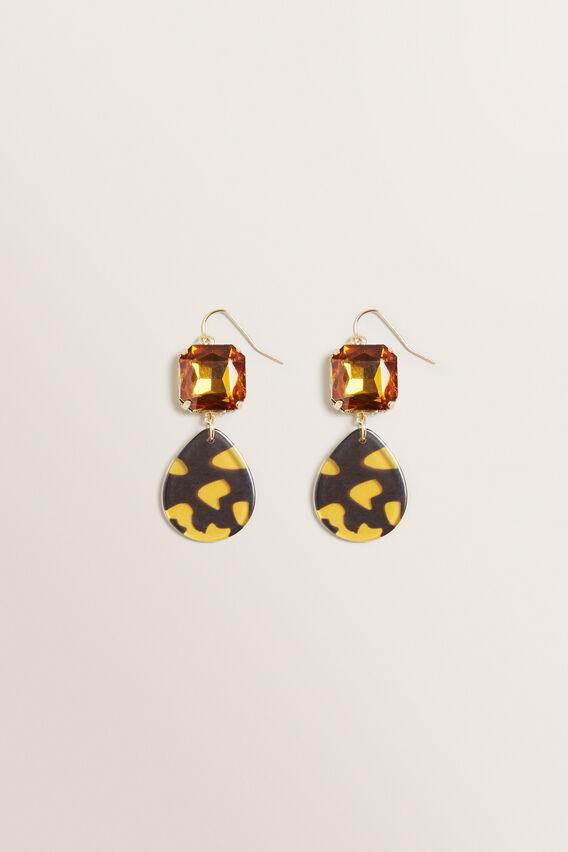 Stone Drop Earring  TORT  hi-res