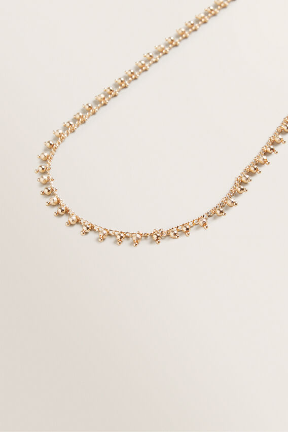Ball Bead Necklace  GOLD  hi-res
