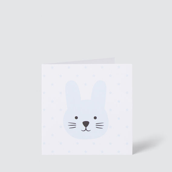 Small Blue Bunny Card  MULTI  hi-res